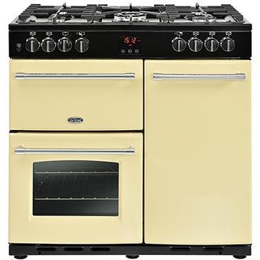 Belling Farmhouse 90DFT 90cm Dual Fuel Range Cooker Cream-Appliance People