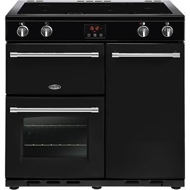 Belling Farmhouse 90EI 90cm Induction Range Cooker Black-Appliance People
