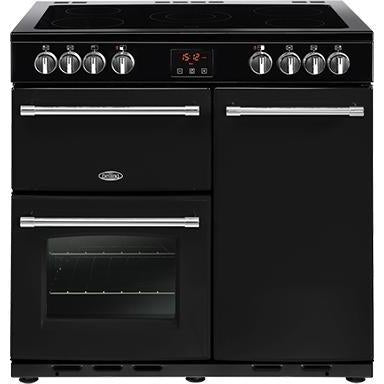 Belling Farmhouse 90E 90cm Ceramic Range Cooker Black-Appliance People