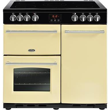 Belling Farmhouse 90E 90cm Ceramic Range Cooker Cream-Appliance People