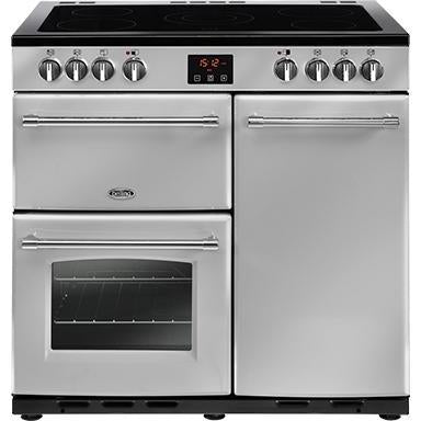 Belling Farmhouse 90E 90cm Ceramic Range Cooker Silver-Appliance People