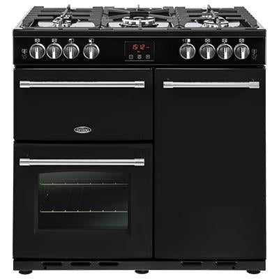 Belling Farmhouse 90G 90cm Gas Range Cooker Black-Appliance People