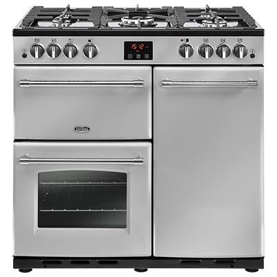 Belling Farmhouse 90G 90cm Gas Range Cooker Silver-Appliance People