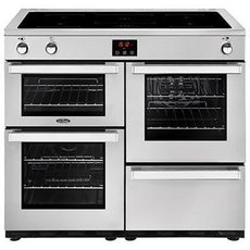 Belling Cookcentre 100EI 100cm Induction Range Cooker Professional Stainless Steel-Appliance People