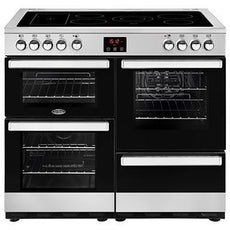 Belling Cookcentre 100E 100cm Ceramic Range Cooker Stainless Steel-Appliance People