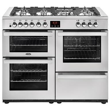 Belling Cookcentre 110DF 110cm Dual Fuel Range Cooker Stainless Steel-Appliance People