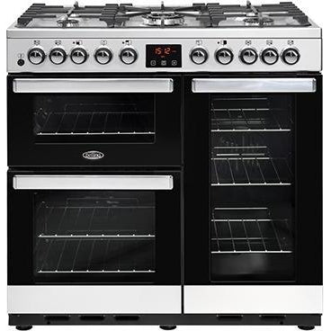 Belling Cookcentre 90DDFT 90cm Dual Fuel Range Cooker Stainless Steel-Appliance People