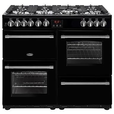 Belling Farmhouse 100DFT 100cm Dual Fuel Range Cooker Black-Appliance People