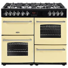 Belling Farmhouse 100DFT 100cm Dual Fuel Range Cooker Cream-Appliance People