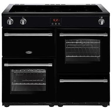 Belling Farmhouse 100EI 100cm Induction Range Cooker Black-Appliance People