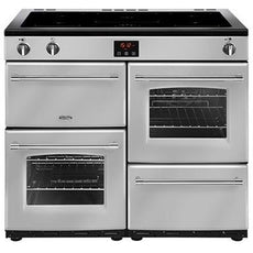 Belling Farmhouse 100EI 100cm Induction Range Cooker Silver-Appliance People