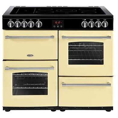Belling Farmhouse 100E 100cm Ceramic Range Cooker Cream-Appliance People
