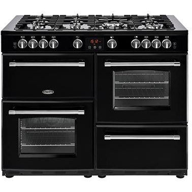 Belling Farmhouse 110DFT 110cm Dual Fuel Range Cooker Black-Appliance People