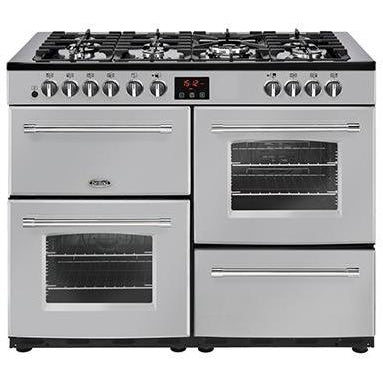 Belling Farmhouse 110DFT 110cm Dual Fuel Range Cooker Silver-Appliance People