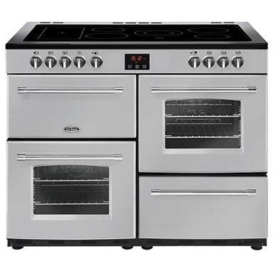 Belling Farmhouse 110E 110cm Ceramic Range Cooker Silver-Appliance People