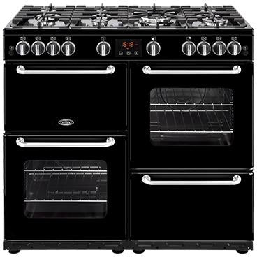 Belling Sandringham 100GT 100cm Gas Range Cooker Black-Appliance People
