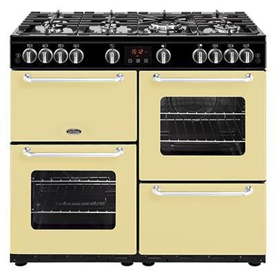 Belling Sandringham 100GT 100cm Gas Range Cooker Cream-Appliance People