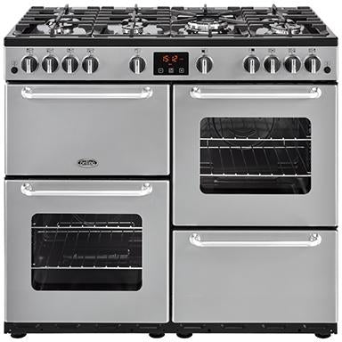 Belling Sandringham 100GT 100cm Gas Range Cooker Silver-Appliance People