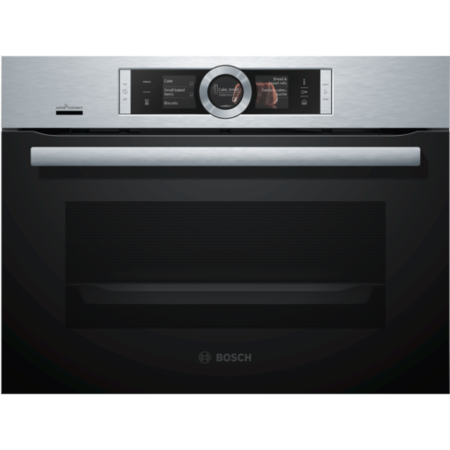Bosch Serie 8 CSG656BS7B Wifi Connected Built In Compact Electric Single Oven with added Steam Function - Stainless Steel - A+ Rated