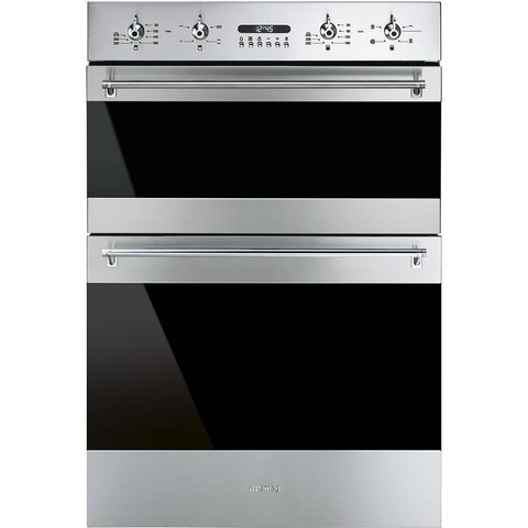 Smeg DOSF634X 60cm Classic Stainless Steel and Eclipse Glass Double Multifunction Oven
