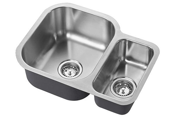 The 1810 Company ETRODUO 589/450U BBL Undermount Sink Stainless Steel-Appliance People