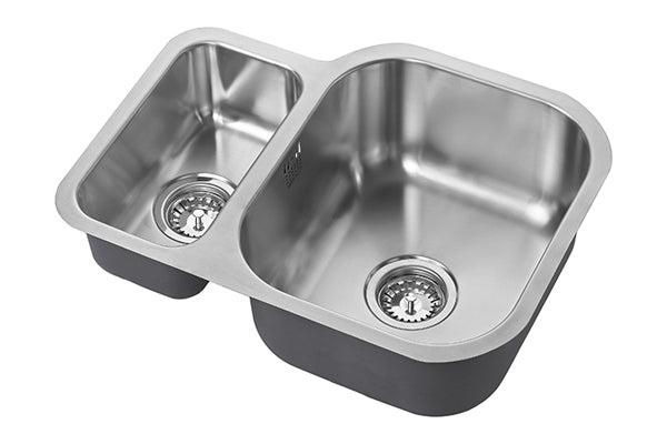 The 1810 Company ETRODUO 589/450U BBR Undermount Sink Stainless Steel-Appliance People