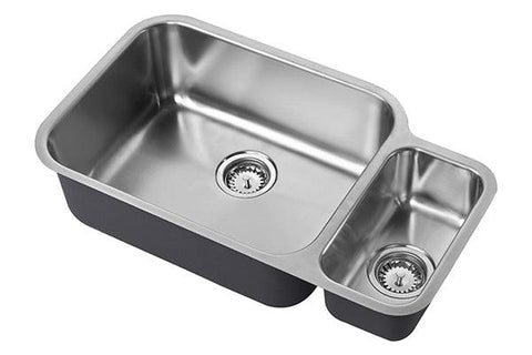 The 1810 Company ETRODUO 781/450U BBL Undermount Sink Stainless Steel-Appliance People