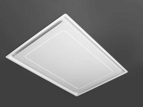 AirUno Elena 90 Ceiling Hood in White Glass