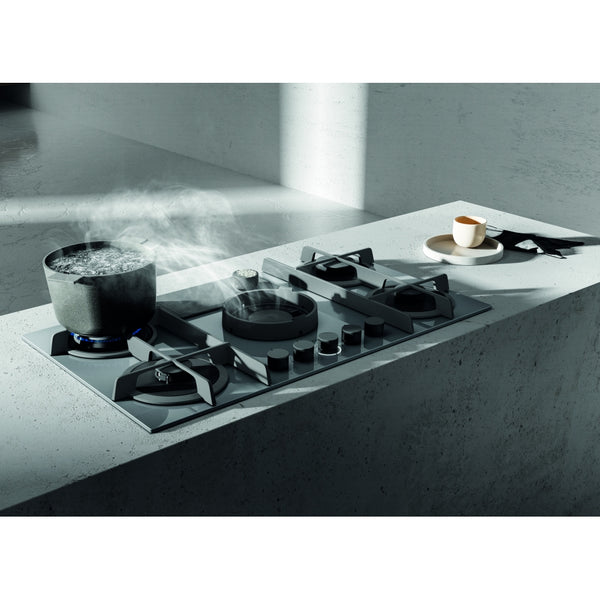 Elica NIKOLATESLA FLAME GR DO 88cm Ducted Air Venting Gas Hob in Grey