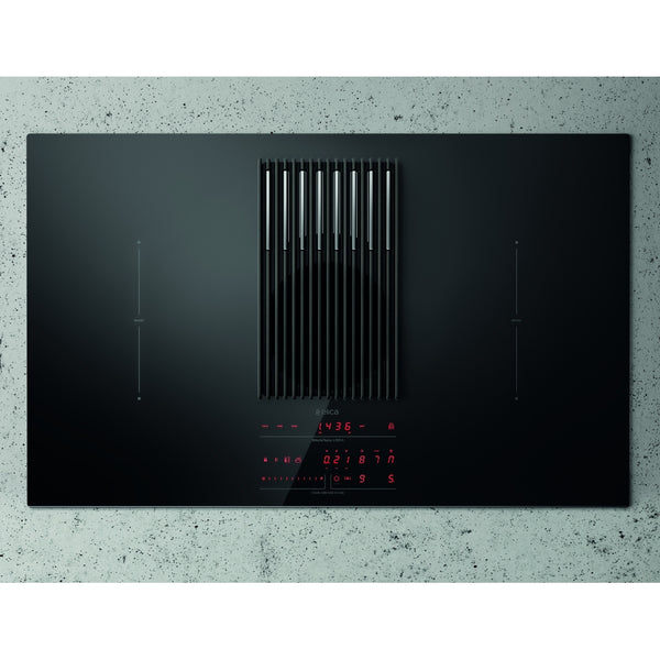 Elica NIKOLATESLA LIBRA BLK 83cm Recirculated Air Venting Induction Hob in Black