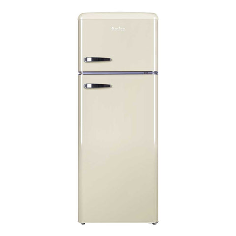 Amica FDR2213C Retro 50cm Double Door Fridge Freezer in Cream