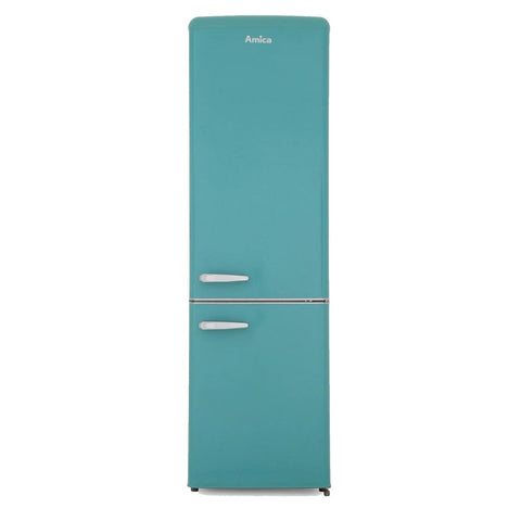 Amica FKR29653DEB Retro 55cm  Fridge Freezer in Duck Egg Blue