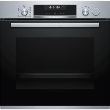 Bosch Serie 6 HRS578BS6B Built In Electric Single Oven with added Steam Function - Stainless Steel - A Rated