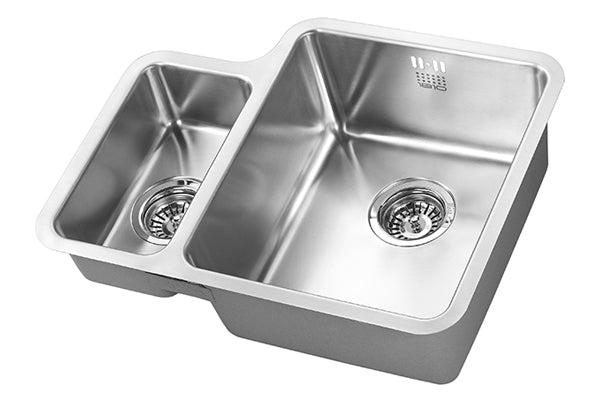 The 1810 Company LUXSODUO25 160/340U BBR Undermount Sink Stainless Steel-Appliance People