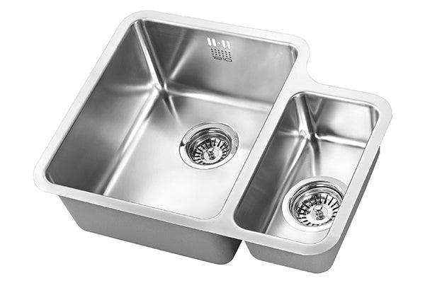 The 1810 Company LUXSODUO25 340/160U BBL Undermount Sink Stainless Steel-Appliance People