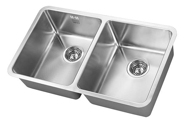 The 1810 Company LUXSODUO25 340/340U Undermount Sink Stainless Steel-Appliance People