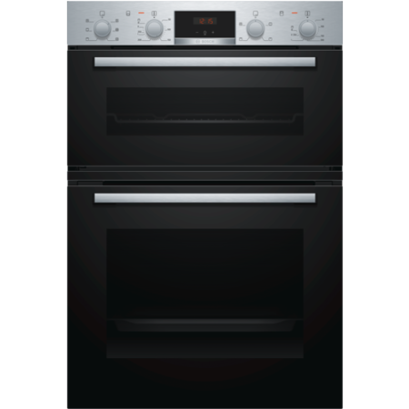 Bosch Serie 2 MBS133BR0B Built In Electric Double Oven - Stainless Steel - A/B Rated