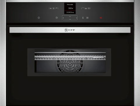 Neff C17MR02N0B N70 Built-in Compact oven with microwave Stainless Steel-Appliance People