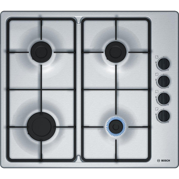 Bosch Series 2 PBP6B5B60 4 Burner Gas Hob Stainless Steel-Appliance People