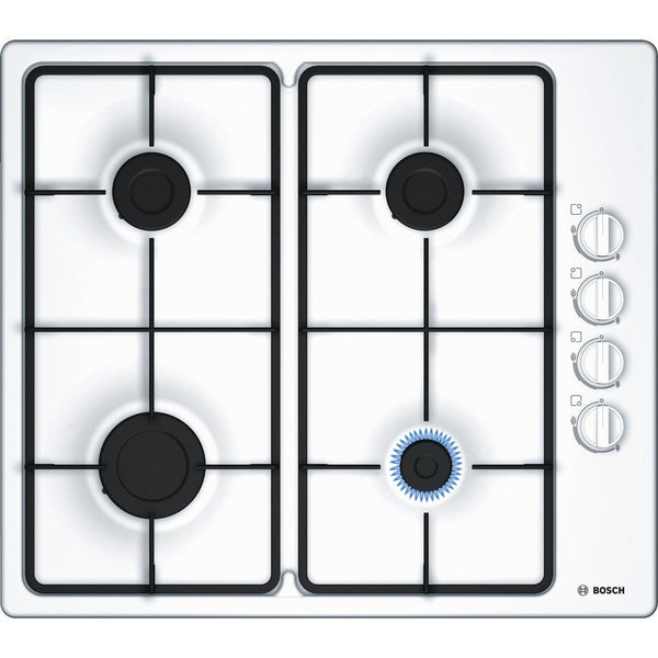 Bosch Serie 2 PBP6B2B60 4 Burner Gas Hob White-Appliance People