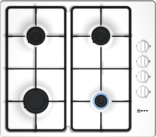 Neff T26BR46W0 N30 4 Zone Gas Hob White-Appliance People