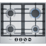 Bosch Series 6 PCP6A5B90 4 Burner Gas Hob Stainless Steel-Appliance People