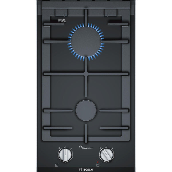 Bosch Serie 8 PRB3A6D70 2 Burner Domino Hob Black-Appliance People