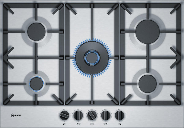 Neff T27DS59N0 N70 5 Zone Gas Hob Stainless steel * * Limited Offer * *-Appliance People