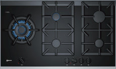 Neff T29TA79N0 5 Zone Gas Hob black ceramic glass-Appliance People