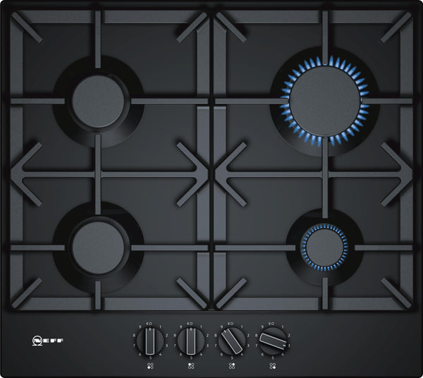 Neff T26DS49S0 N70 4 Zone Gas Hob Black enamel-Appliance People