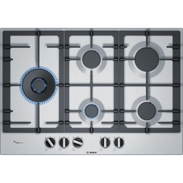 Bosch Serie 6 PCS7A5B90 5 Burner Gas Hob Stainless Steel-Appliance People