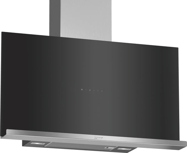 Neff D95FRM1S0B N70 Flat slimline design Chimney hood Black-Appliance People