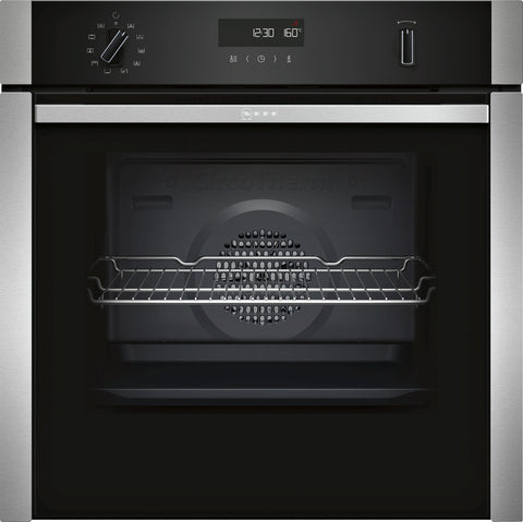 Neff B6ACH7HN0B N50 Built-in Single Oven Silver-Appliance People