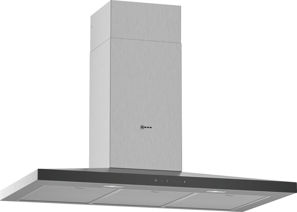 Neff D94QFM1N0B N50 Slim pyramid Chimney hood Stainless steel-Appliance People